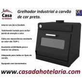 Grelhador Industrial a Carvão de Cor Preta com Potência Equivalente a 4500 Watt (transporte incluído) - Refª 101831