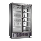 Armário Refrigerado Ventilado em Inox com Portas de Vidro, 745 Lts, +1º +8º C (transporte incluído) - Refª 101836