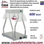 Ponte de Aquecimento de Comida com Infravermelhos 1x 250W com Base Aquecida, 600 W (transporte incluído) - Refª 101869