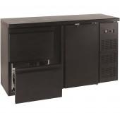 Bancada Refrigerada para Garrafas com 1 Porta e 2 Gavetões, Capacidade para 290 Litros, Temp. 0º +10º C (transporte incluído) - Refª 101884