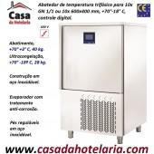 Abatedor de Temperatura Ultracongelador em Aço Inox de Controle Digital com 10x Níveis GN 1/1 ou 10x 600x400 mm, +70°-18°C (transporte incluído) - Refª 101897