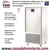 Abatedor de Temperatura Ultracongelador em Aço Inox de Controle Digital com 14x Níveis GN 1/1 ou 14x 600x400 mm, +70°-18°C (transporte incluído) - Refª 101898
