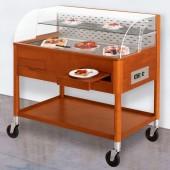 Carro Refrigerado para Sobremesas em Madeira de Cerejeira, Temperatura +4º +10º C (transporte incluído) - Refª 101910