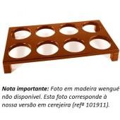 Suporte para Garrafas em Madeira Wengué - Refª 101915