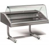 Vitrina Expositora Refrigerada de 1 Metro com Zona de Exposição em Inox, Especial Peixe, Temperatura 0º + 2º C (transporte incluído) - Refª 101979