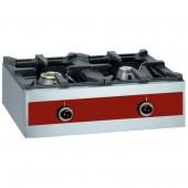 Fogão Industrial a Gás com 2 Queimadores (1x 3200 Watt +1x 5500 Watt), total de 7485 kcal/h (transporte incluído) - Refª 101993