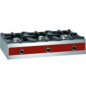 Fogão Industrial a Gás com 3 Queimadores (1x 3200 W +1x 5500 W + 1x 7200 W), total de 13935 kcal/h (transporte incluído) - Refª 101994
