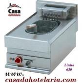 Fritadeira Eléctrica Industrial Trifásica de 1 Cuba de 10 Litros da Linha 650, 9000 Watt (transporte incluído) - Refª 101999