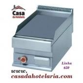 Placa de Grelhar Industrial Eléctrica Lisa Monofásica com Tratamento Cromo Duro de 1 Zona da Linha 650, 4500 Watts (transporte incluído) - Refª 102007