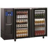 Bancada Refrigerada para Garrafas com 2 Portas de Vidro e Capacidade para 375 Litros, +1º +8º C (transporte incluído) - Refª 102287