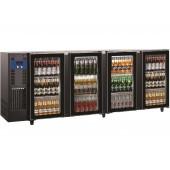 Bancada Refrigerada para Garrafas com 4 Portas de Vidro e Capacidade para 783 Litros, +1º +8º C (transporte incluído) - Refª 102289