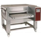Forno de Tunel a Gás Industrial Ventilado para Pizzas com Esteira de Largura de 650 mm sobre Base com Rodas, 20650 kcal/h (transporte incluído) - Refª 102626