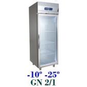 Armário Expositor de Congelação em Inox de 700 Litros com Porta de Vidro (transporte incluído) - Refª 101231