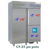 Armário Refrigerado Ventilado com Compartimento para Peixe em Inox de 1400 Litros (transporte incluído) - Refª 101238