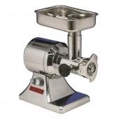 Moinho Triturador Industrial de Carne nº 12 Ralador com Grelha / Disco de 6 mm em Aço Inoxidável, 200 kg/hora, 1 Hp (transporte incluído) - Refª 100444