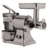 Moinho Triturador Industrial de Carne nº 12, 200 kg/h + Ralador de Queijo Parmesão 50 kg/h, 1 Hp, 750 Watts (transporte incluído) - Refª 100466