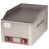 Placa de Grelhar Lisa Industrial de Bancada Elétrica Monofásica +50° C a +300° C, Potência de 3000 Watts (transporte incluído) - Refª 102576