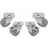 Quatro Rodas, Duas com Travão, para Armário Industrial Refrigerado ou Congelação - Refª 102596