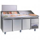 Mesa de Preparação de Pizzas com Estrutura Refrigerada Integrada 10x GN 1/3 (transporte incluído) - Refª 100931